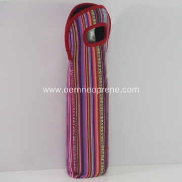 Newest Striped Design Neoprene Wine Bottle Coolers