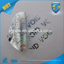 Alibaba China manufacturer tamper evident security self adhesive hologram sticker