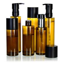 Échantillon gratuit bon marché ronde plastique 100 ml shampooing pet bouteilles