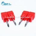 Cortador de grabado BFL Carburo sólido 3 caras Router V bits para madera