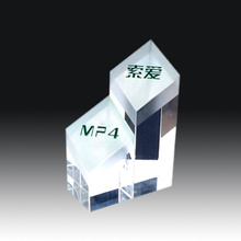 Crystal Glass cube Paperweight