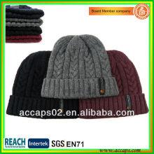 Bonnet tissé d'étiquette avec motifs de tissage jacquard Chine gros BN-2038