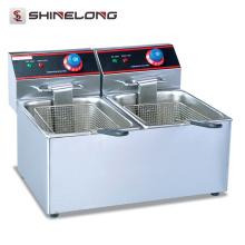 CE Aprovação Equipamentos de cozinha Aparelhos de cozinha Fritadeira elétrica de 1 tanque e fritadeira de 1 cesta