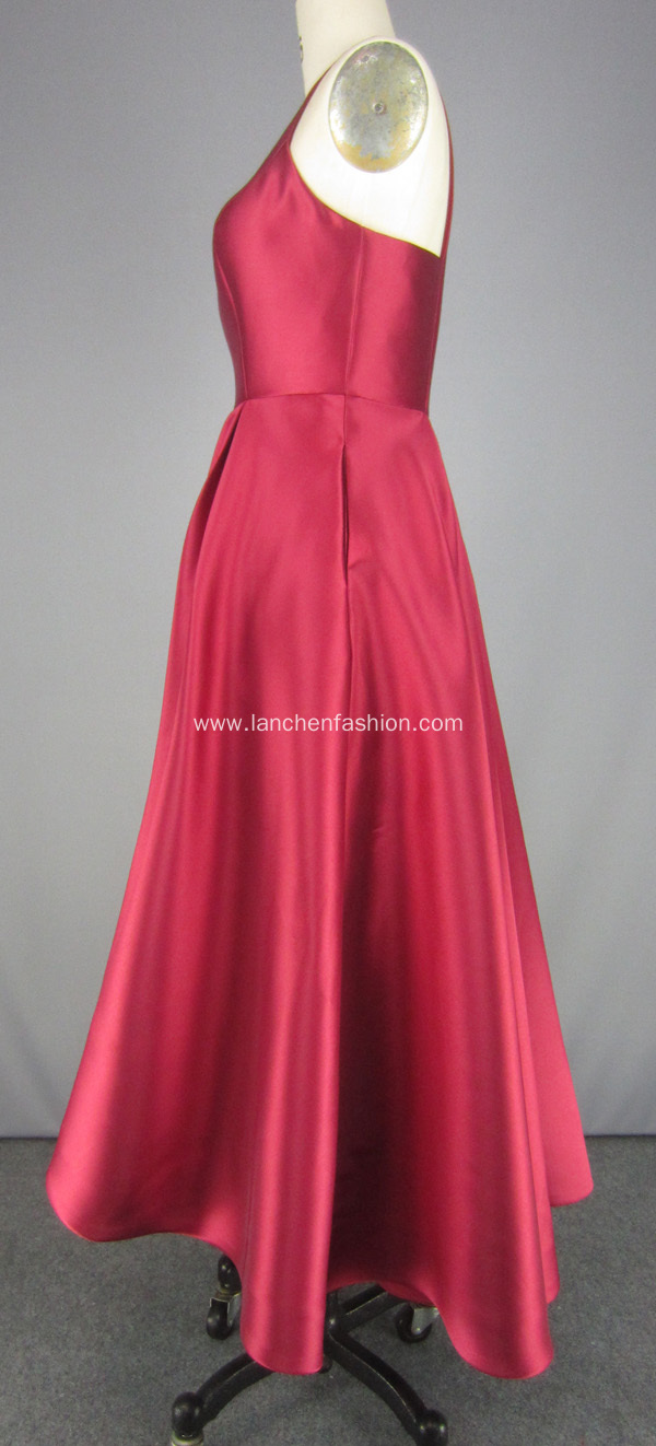 Red High Low Evening Gown Prom Dress