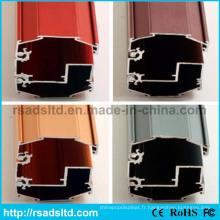 Section de cadre en aluminium décoratif
