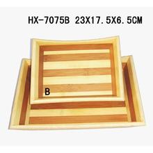 China for Bamboo Serving Tray Bamboo 2-Tone Serving Tray Sets export to China Importers