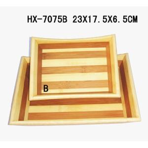 Bamboo 2-Tone Serving Tray Sets