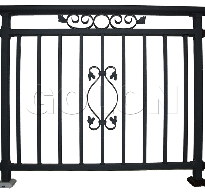 China simple style design wrought iron deck railing for Simple railing design for balcony