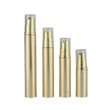 5ml 10ml 12ml 15ml Low MOQ Clear High Quality Empty Luxury Gold Eye Cream Serum Plastic Airless Pump Bottle