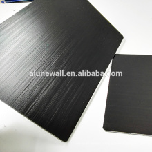 3mm thickness brush black aluminum composite panel acp