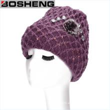 Nuevo sombrero Slouchy holgado del esquí de la gorrita tejida del Knit caliente del invierno de la manera