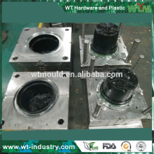 Shenzhen supplier mold Black ABS plastic plowerpot mould manufacturer
