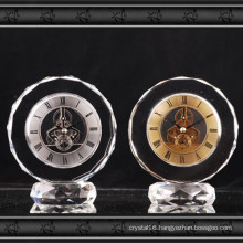 2016 New Design Crystal Glass Clock Gift