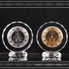 2016 Novo Design De Cristal De Vidro Relógio Presente