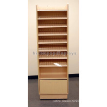 Retail Store Wood Floor Display Unit Cosmetic Shop Beauty Product Wholesale Nail Polish Display Stand