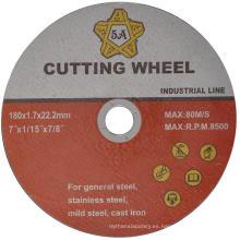 Disco de corte súper delgado abrasivo T41 para acero con red individual