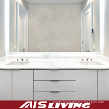 White PVC Bathroom Vanity Cabinets with Drawer (AIS-B001)