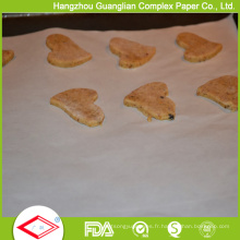 Feuilles de papier de parchemin de silicone de 460X710mm pour faire cuire au four