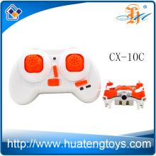 Nuevo drone de radio del control de radio de la nueva llegada Cheerson CX-10C mini rc quadcopter 2.4G 4ch 6 con la cámara del hd para la venta