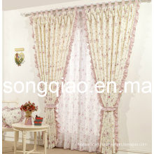 Countryside Style Printed Half-Shading Curtain