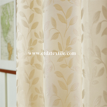 Modern Small Leaf Flower Pattern Of Curtain Fabric