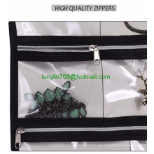 Puerta Colgante de la joyería Organizador Almacenamiento de pergamino para collar, pendientes, accesorios, beige