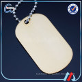 High Quality wholesale metal blank anodized dog tags with ball chain