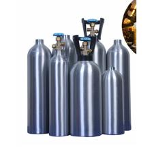 CGA 320 valve 6kg 8kg 10kg 12kg 15kg co2 aluminum cylinder