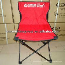 OEM 600D Polyester extérieur chaise de Camping pliante