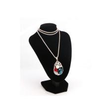Busto elegante da exposição da colar do pendente da jóia de veludo (NS-VBK-3)