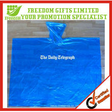 Logotipo de material respetuoso del medio ambiente Impreso Poncho disponible de calidad superior