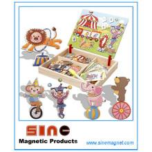 Платье разнообразных магнитно-деревянные переодеться головоломки игрушки