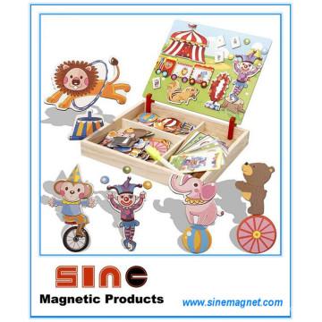 La variedad viste el cambio de madera magnético viste los juguetes del rompecabezas