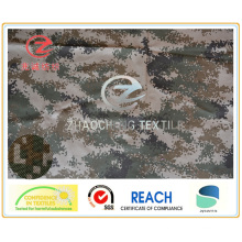 1000d Cordura Army Camouflage Printing PU revêtu de tissu ignifuge pour usages militaires 350GSM (ZCBP007)