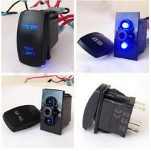 Interruptor de balancim de iluminação LED com legenda