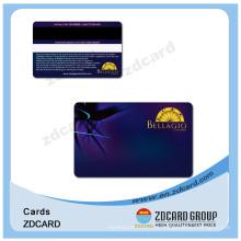 Cartão transparente geado folha do ouro / prata de PVC