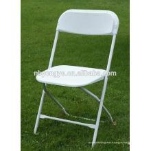Chaise pliante en acier éprouvée SGS avec dossier en plastique