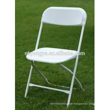 SGS tested steel folding chair with plastic back