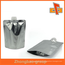 Superior quality foil spout, plastic nozzle pouch bag up to 12 colors printing