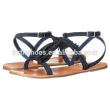 2016 Ladies Summer Flat Sandal Shoe Latest Wholesale Women Fashion Footwear