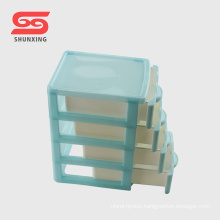 multifunctional small size plastic drawer storage cabinet