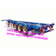 3 eixos Lowbed Skeleton Semi Trailer