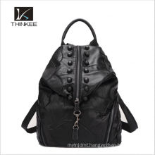 Popular selling customized stock wholesale leather brown backpack