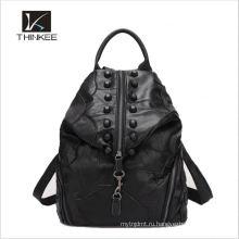Популярные продавая подгонянный шток оптом кожаный коричневый рюкзак
