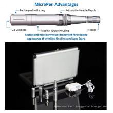 Microneedle thérapie rechargeable micro peau Derma Pen