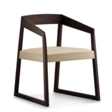 New Design Home Furniture Wood Chair with Fabric Seat