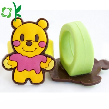 Lovely Yellow Bear Silicone 3D Cartoon Julringar