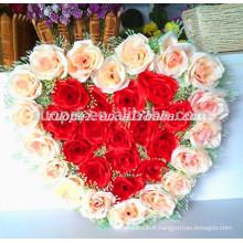 2014 en gros coeur artificiel en forme de couronne pour la décoration de mariage