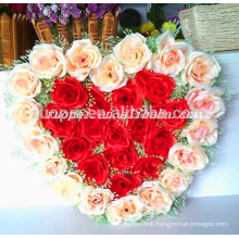 2014 wholesale artificial heart shaped wreath for wedding decoration