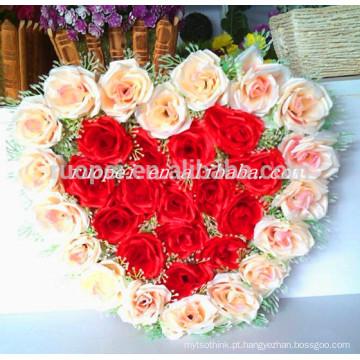 2014 atacado coração artificial em forma de coroa de flores para decoração de casamento